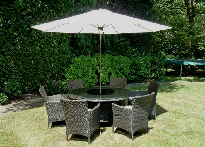 6 seater round rattan dining set - Garden Furniture Clearance