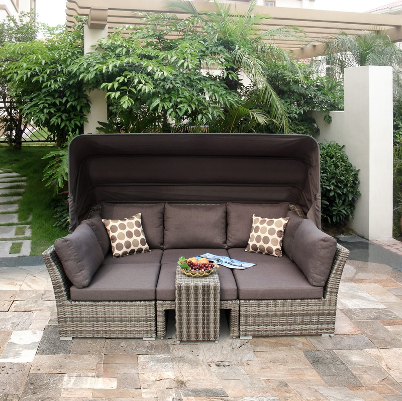 reclining rattan garden furniture is the popular choice. Black Bedroom Furniture Sets. Home Design Ideas